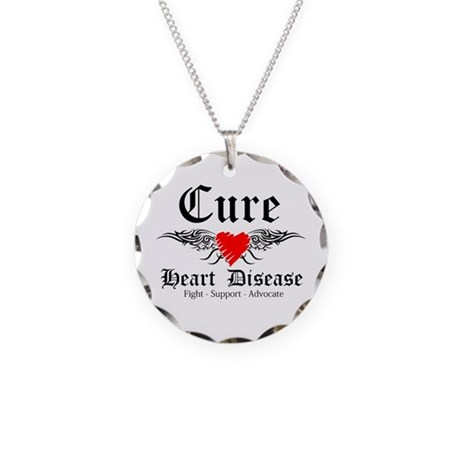 Cure Heart Disease Necklace Circle Charm