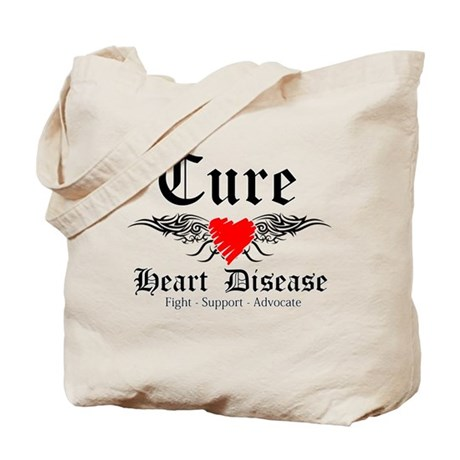 Cure Heart Disease Tote Bag
