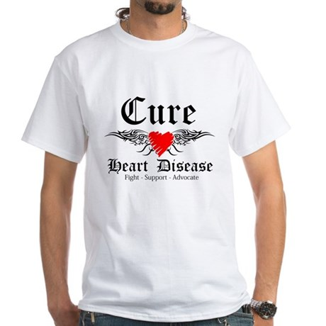 Cure Heart Disease White T-Shirt
