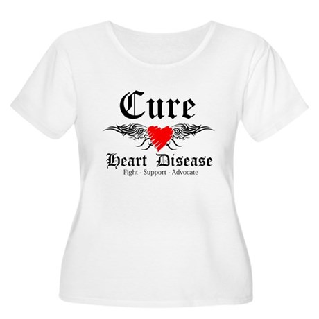 Cure Heart Disease Women's Plus Size Scoop Neck T-