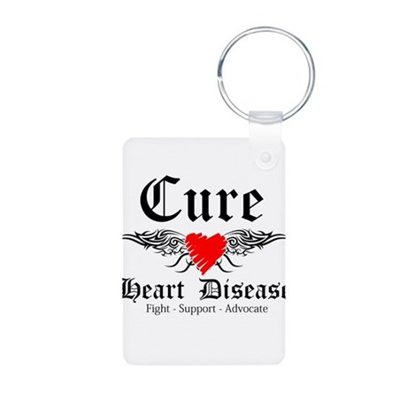 Cure Heart Disease Aluminum Photo Keychain