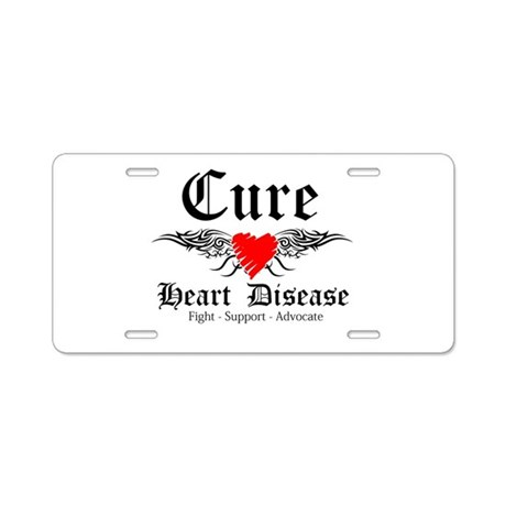 Cure Heart Disease Aluminum License Plate