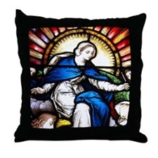 Blessed Virgin Mary Throw Pillow