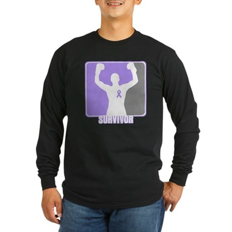 Gen. Cancer Male Survivor Long Sleeve Dark T-Shirt