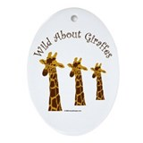 Giraffes Oval Ornaments