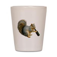 Squirrel Beer Shot Glass
