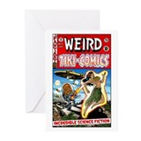 """Weird Tiki Comics # 1"" Greeting Cards ("