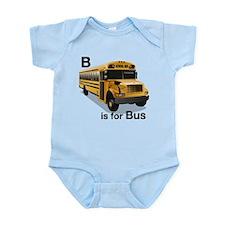 B is for Bus: School Bus Infant Bodysuit