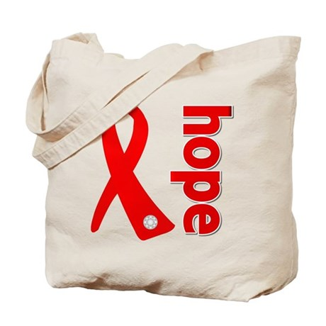 Hope Heart Disease Ribbon Tote Bag