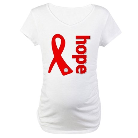 Hope Heart Disease Ribbon Maternity T-Shirt