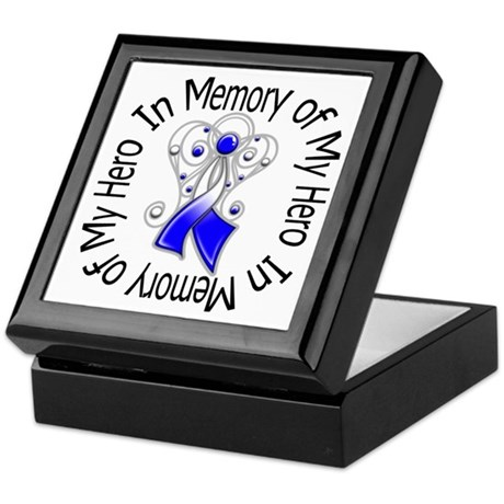 ALS In Memory of My Hero Keepsake Box