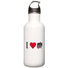 I Love Chinchillas Stainless Water Bottle 1.0L