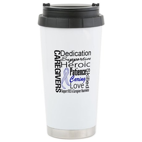 ALS Caregivers Collage Ceramic Travel Mug