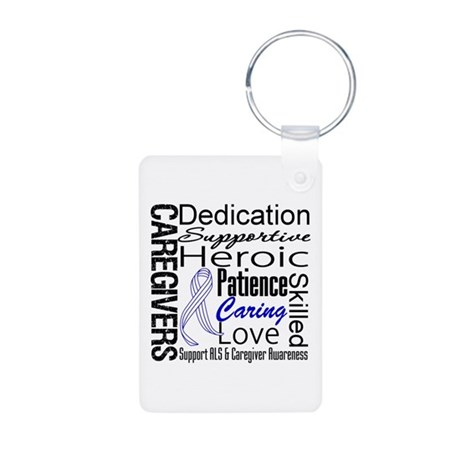 ALS Caregivers Collage Aluminum Photo Keychain