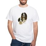 English Springer Spaniel White T-Shirt