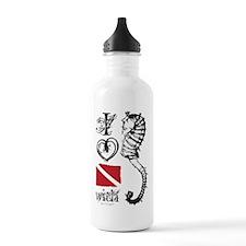 Cute Ocean girl Water Bottle