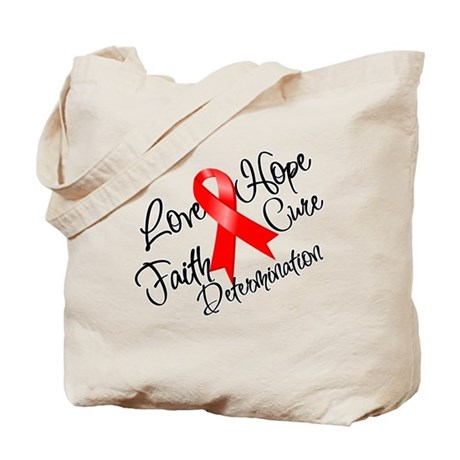 Love Hope Heart Disease Tote Bag