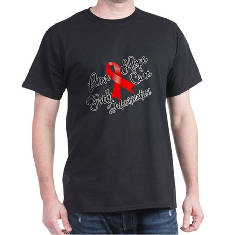 Love Hope Heart Disease Dark T-Shirt
