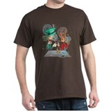 mad hatter and march hair Black T-Shirt