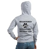Registered veterinary technician Zip Hoodies