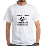 Registered Veterinary Tech White T-Shirt
