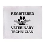 Registered Veterinary Tech Throw Blanket