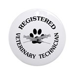 Registered Veterinary Tech Ornament (Round)