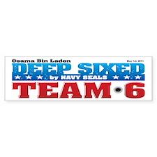 Osama Bin Laden Deep Sixed Bumper Sticker