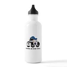 Police Car Water Bottle