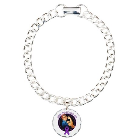 Epilepsy We Can Do It Charm Bracelet, One Charm