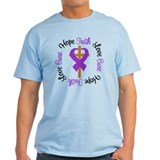 Epilepsy Hope Faith Cross T-Shirt