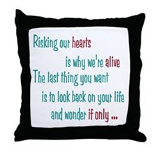 Castle: Risking Our Hearts Throw Pillow