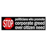 Stop Politicians Who... bumper sticker