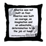 Truman Courage Throw Pillow