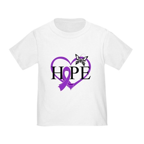 Epilepsy Hope Heart Toddler T-Shirt