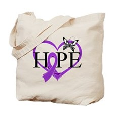 Epilepsy Hope Heart Tote Bag