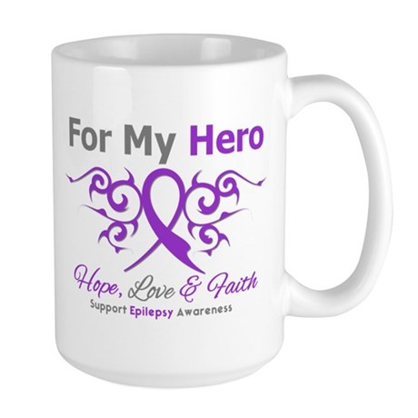 Epilepsy For My Hero Large Mug