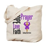 Epilepsy Hope Cross Tote Bag