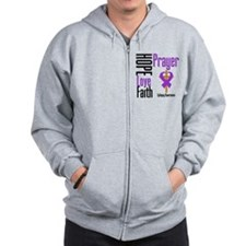 Epilepsy Hope Cross Zip Hoodie