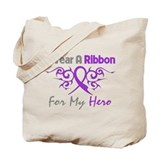 Epilepsy Hero Ribbon Tote Bag