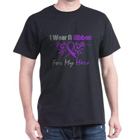 Epilepsy Hero Ribbon Dark T-Shirt