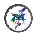 Knifey The Cat Wall Clock