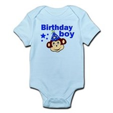 Birthday boy monkey Infant Bodysuit