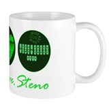 PEACE LOVE STENO Coffee Mug