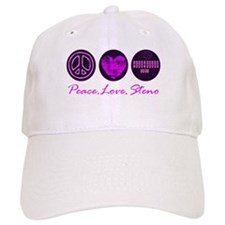 PEACE LOVE STENO Baseball Cap