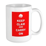Keep Clam Ceramic Mugs