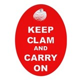 Keep Clam Ornament (Oval)