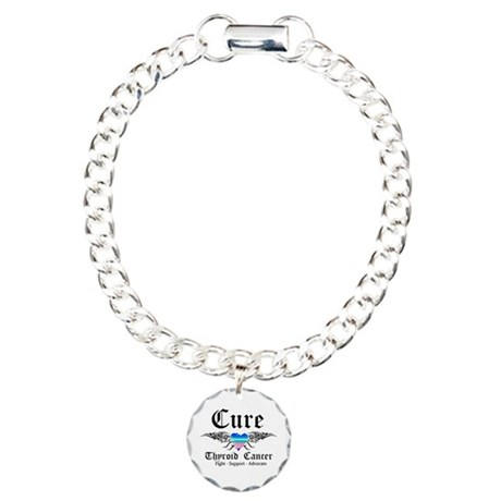 Cure Thyroid Cancer Charm Bracelet, One Charm