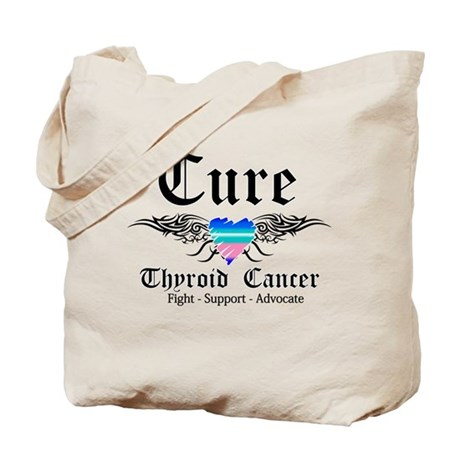 Cure Thyroid Cancer Tote Bag