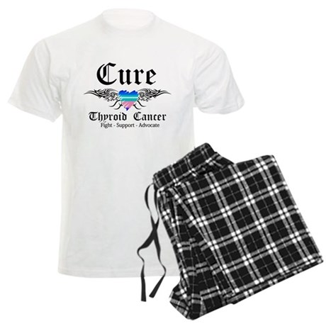 Cure Thyroid Cancer Men's Light Pajamas